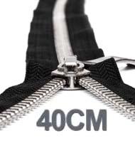 40CM Cerniera Lampo YKK In Metallo