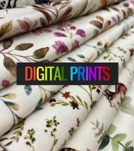Jersey Cotton Fabric Digital Print