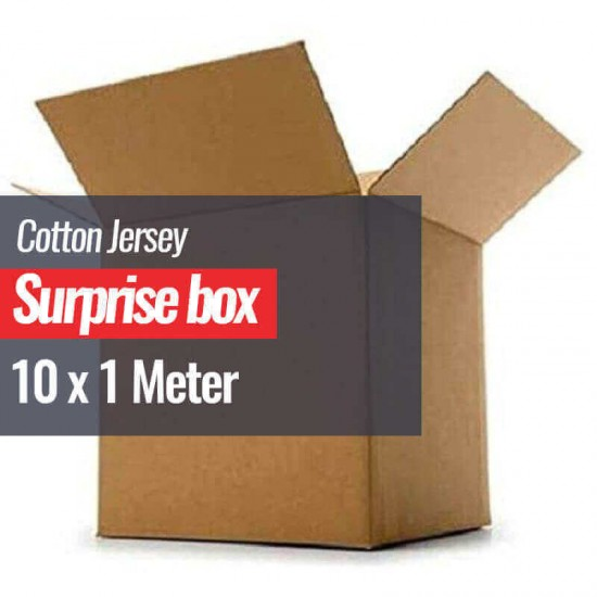 Cotton Jersey Fabric Surprise Box 10 x 1 Meter