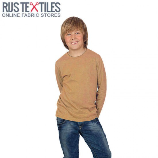 Cotton Jersey Knit Fabric Camel