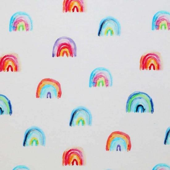 Jersey Cotton Fabric Digital Print - Rainbow