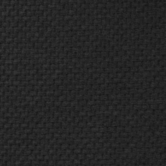 Knitted Jacquard Fabric Brick Pattern Dark Grey Melange