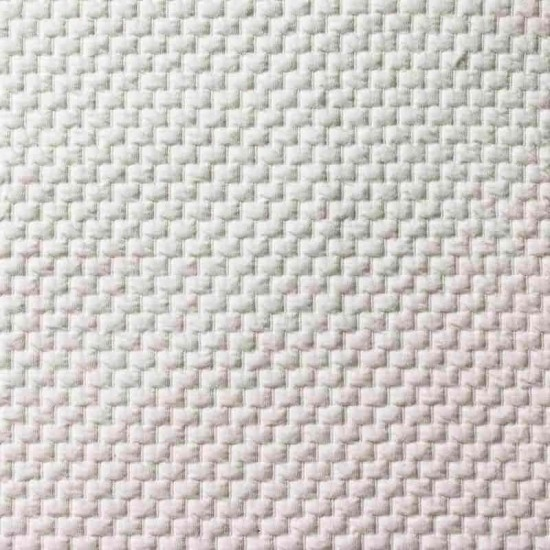 Knitted Jacquard Fabric Brick Pattern Ecru