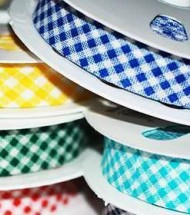 Cotton Bias Binding Gingham