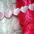 Hearts Ribbon Satin
