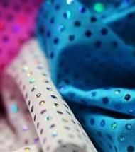 Lycra Fabric Glitter Sequins