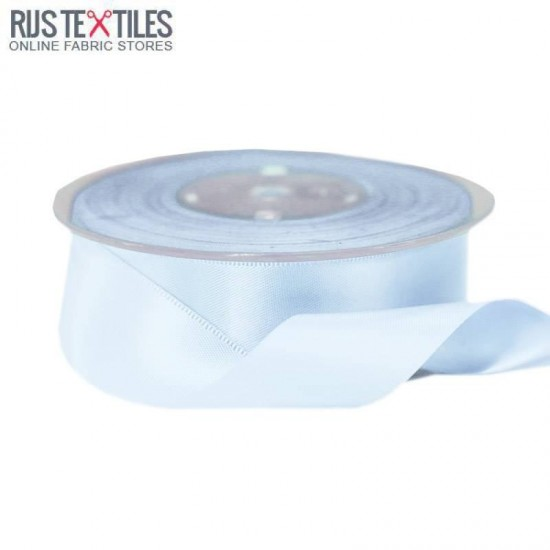 Satin Ribbon 25mm Light Blue