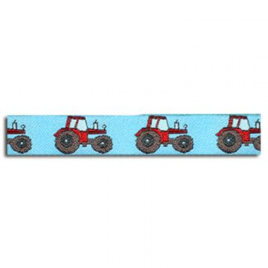 Childrens Ribbon - Tractor Blue 15mm