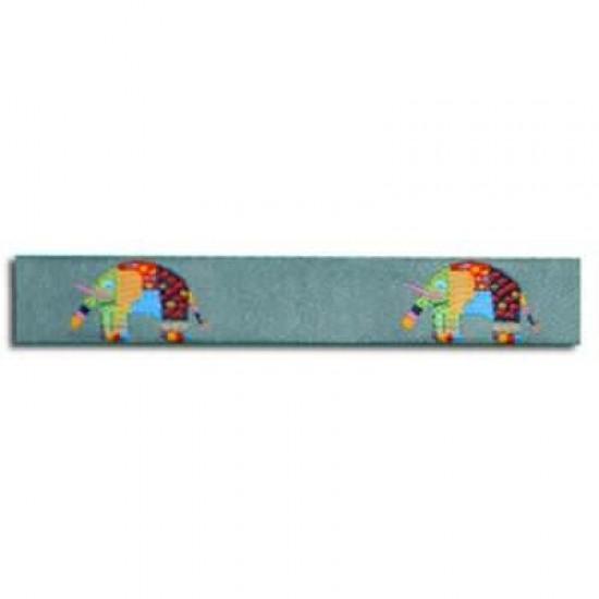 Childrens Ribbon - Patchwork Elephant Grey 15mm