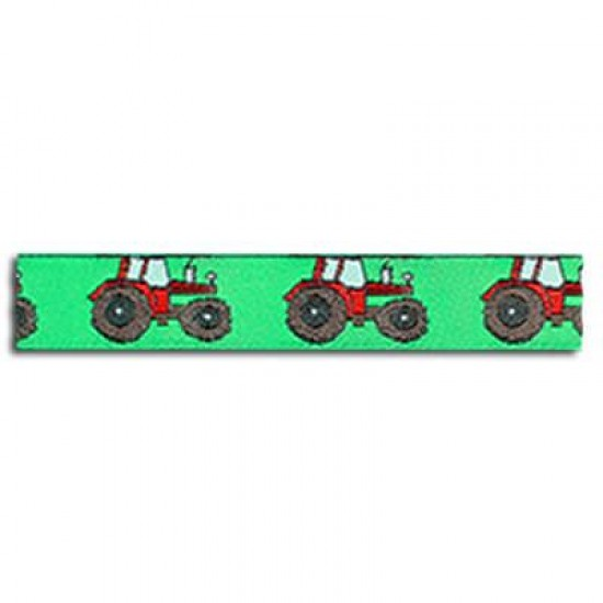 Childrens Ribbon - Tractor Green 15mm