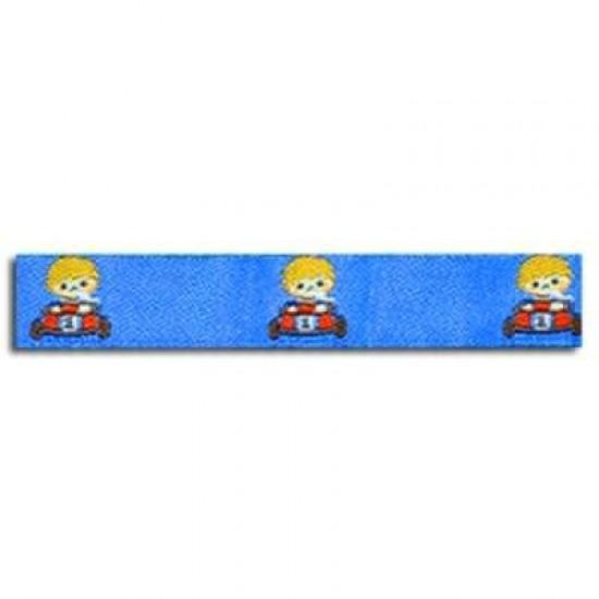 Childrens Ribbon - Go-Kart Cobalt 15mm