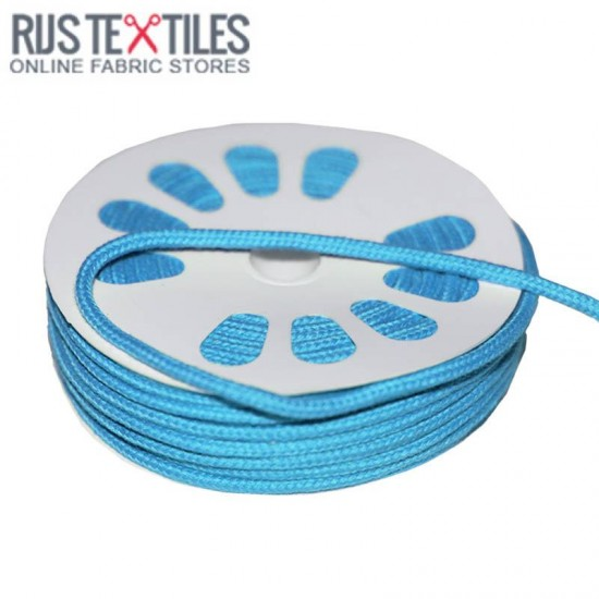 Cotton Cord Aqua 3mm (Per Meter)