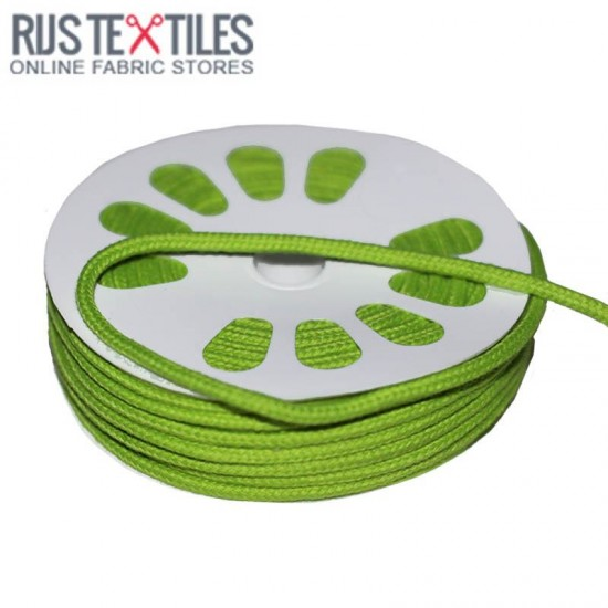 Cotton Cord Lime 3mm (Per Meter)
