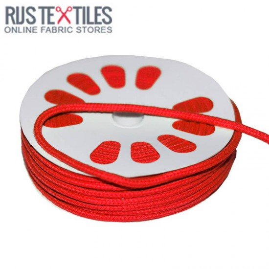 Cotton Cord Red 3mm (Per Meter)