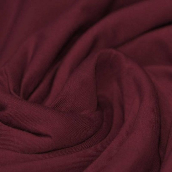 Cotton Jersey Knit Fabric Bordeaux