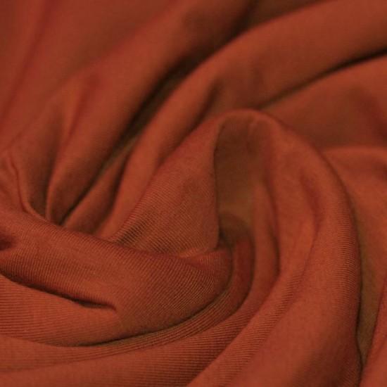 Cotton Jersey Knit Fabric Brique