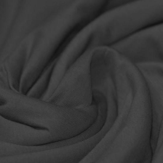 Cotton Jersey Knit Fabric Dark Grey
