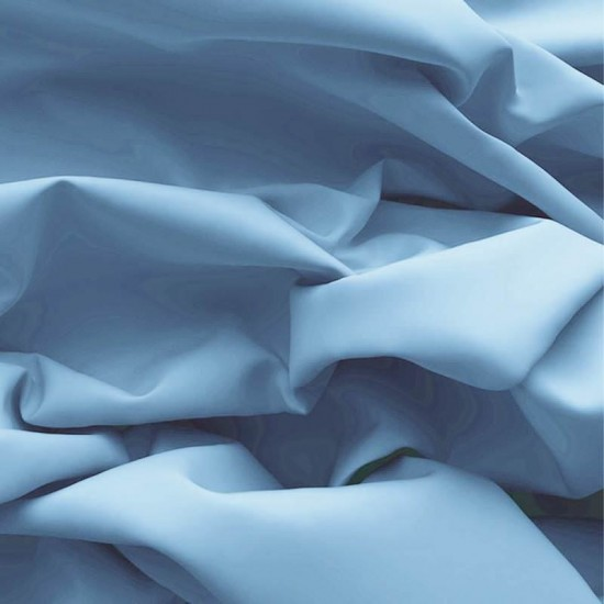 Poplin Cotton Fabric Light Blue