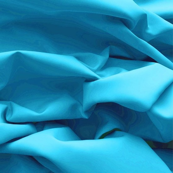 Poplin Cotton Fabric Aqua