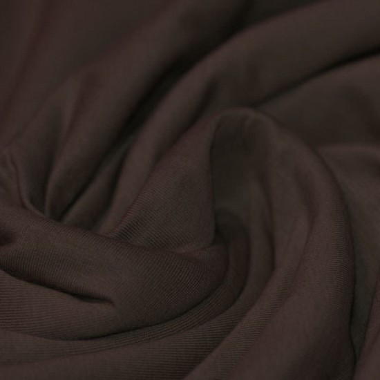 Cotton Jersey Knit Fabric Brown