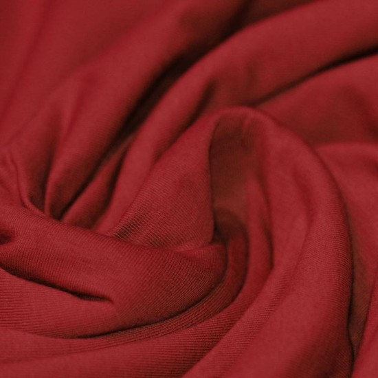 Cotton Jersey Knit Fabric Dark Red
