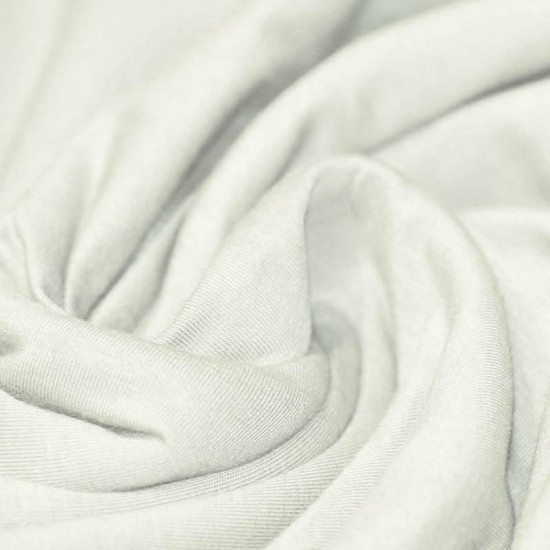 Cotton Jersey Knit Fabric Ecru