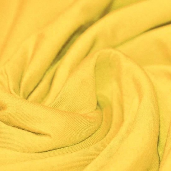 Cotton Jersey Knit Fabric Yellow