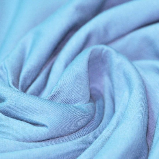 Cotton Jersey Knit Fabric Light Blue