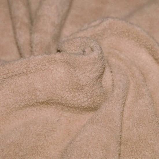 Cotton Fleece Fabric (Sherpa) Beige