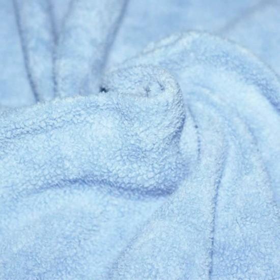 Fleece Katoen Stof (Sherpa) Baby Blauw