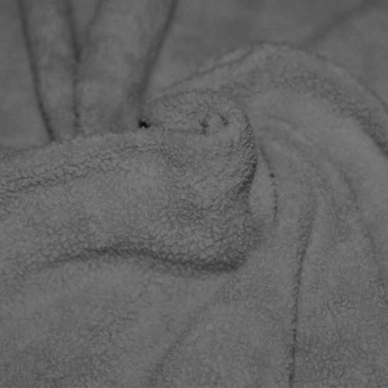 Cotton Fleece Fabric (Sherpa) Grey