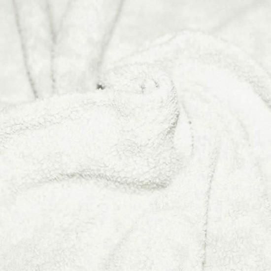 Cotton Fleece Fabric (Sherpa) Ecru