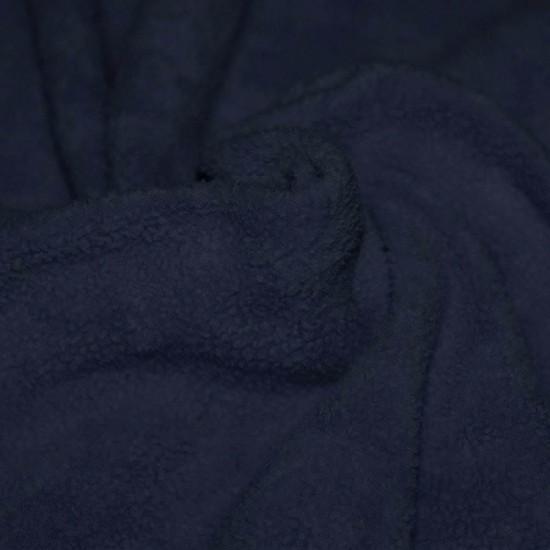 Tissu Polaire Coton (Sherpa) Marine
