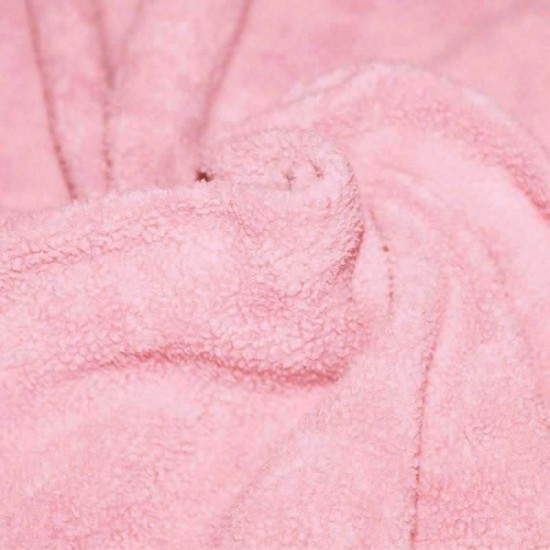 Cotton Fleece Fabric (Sherpa) Pink
