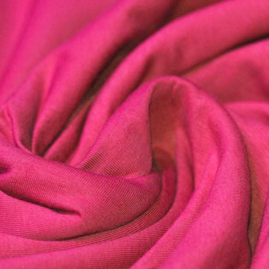 Cotton Jersey Knit Fabric Fuchsia