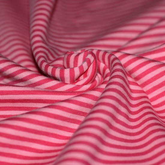 Jersey Stripes 3mm Fuchsia Pink