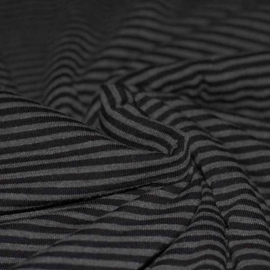 Jersey Stripes 3mm Grey Melee Black