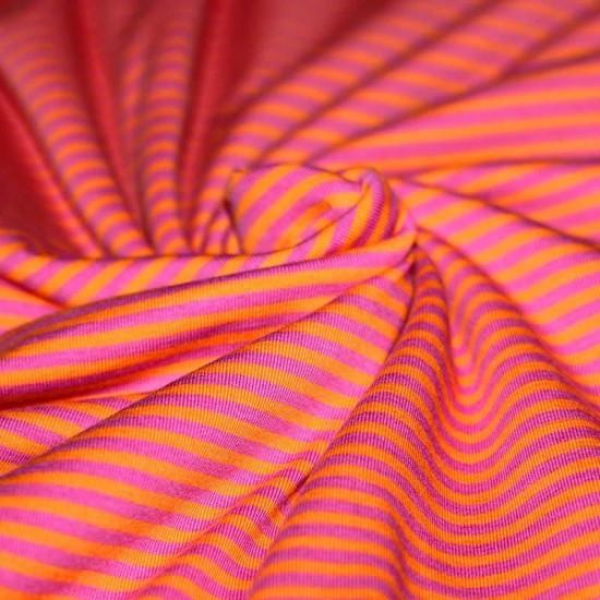 Jersey Stripes 3mm Orange Fuchsia