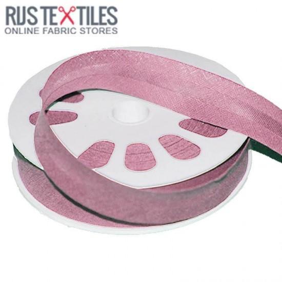 Cotton Bias Binding Old Pink 20mm