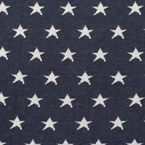 Big Knit Jacquard Fabric - Stars Navy