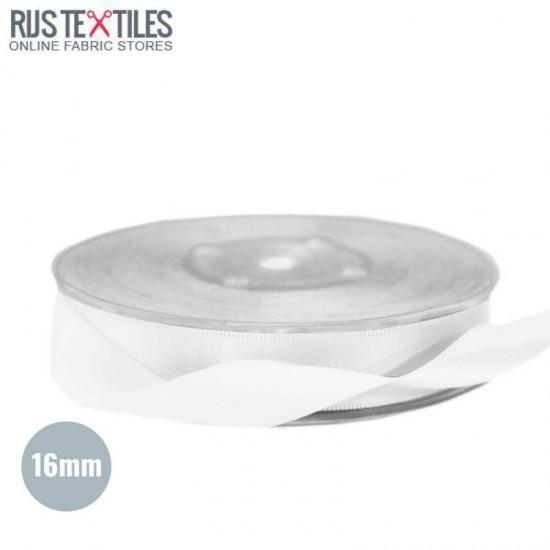 Satin Ribbon 16mm White