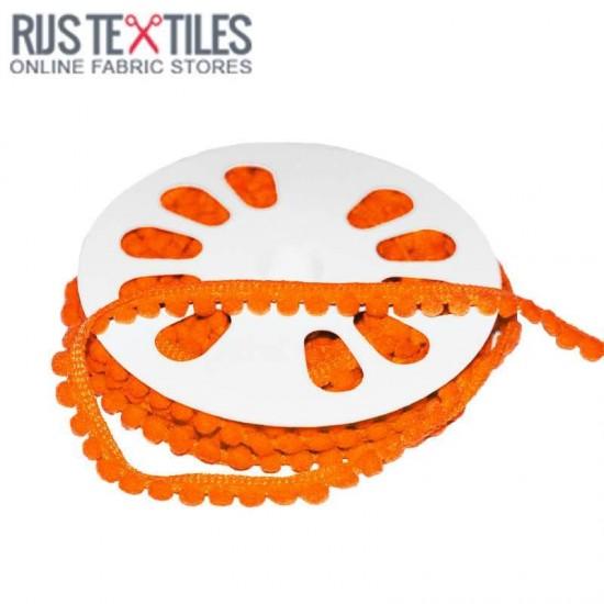 Ruban Galon Pompons 4mm Orange