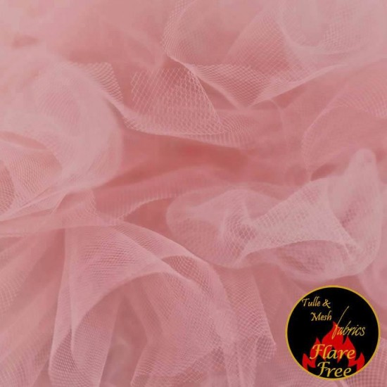 Tulle Netting Fabric Old Pink 300CM Wide
