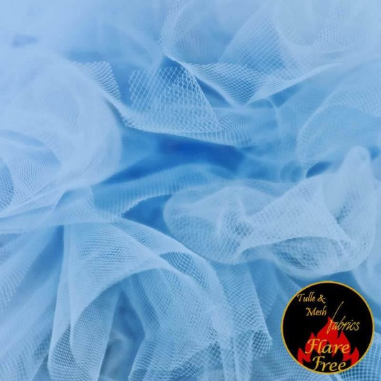 Tulle Netting Baby Blue 300CM Wide