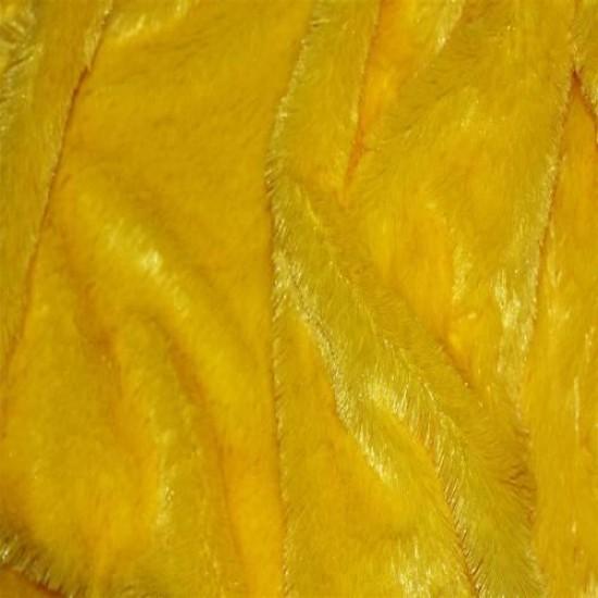 Fur Fabric Yellow