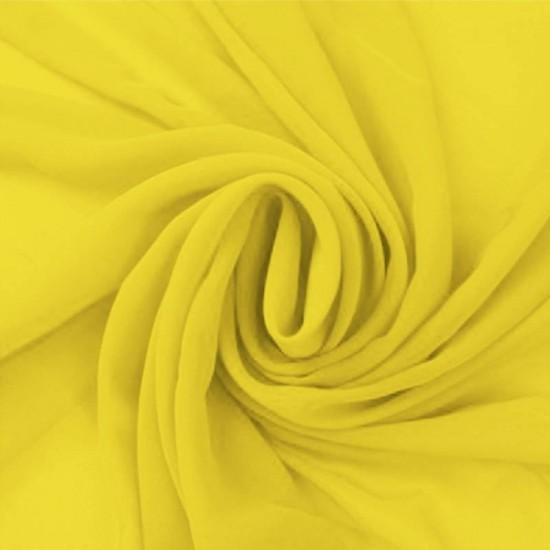 Chiffon Fabric Yellow