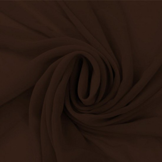Chiffon Fabric Brown