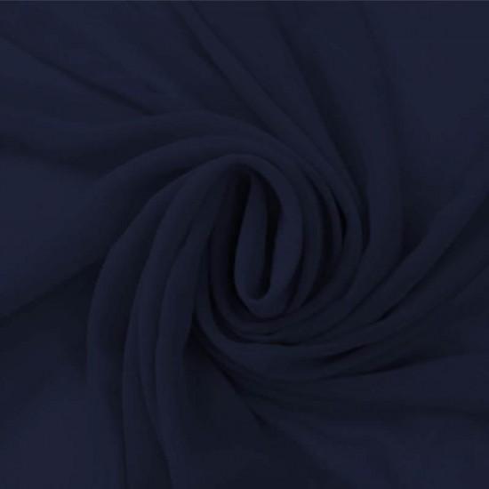 Chiffon Fabric Navy