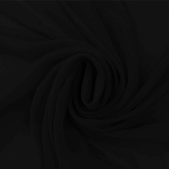 Chiffon Fabric Black