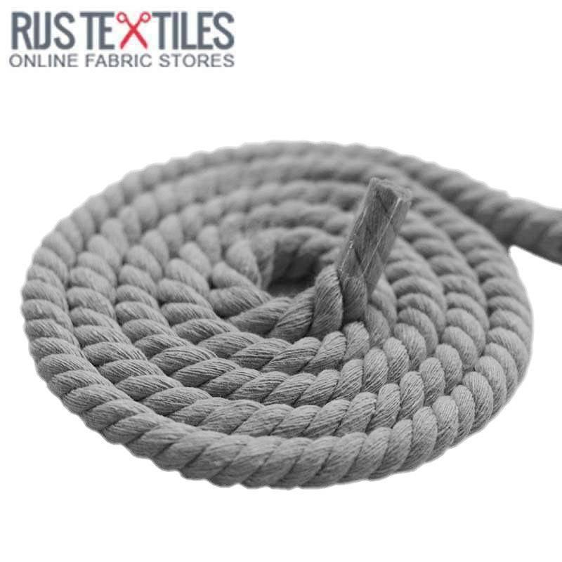 Buy cotton cord rope light grey 12mm from 160 cotton cord rope light grey 12mm aloadofball Image collections